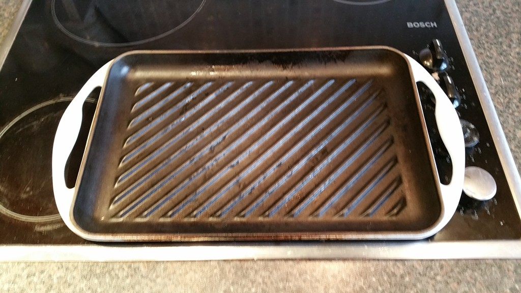 Heat the griddle pan - make sure it gets really hot!