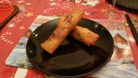 serve spring rolls with sweet chilli sauce